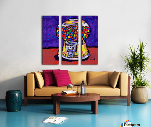 BUBBLE GUM MACHINE Split Canvas print