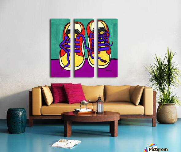 TENNIE RUNNERS Split Canvas print