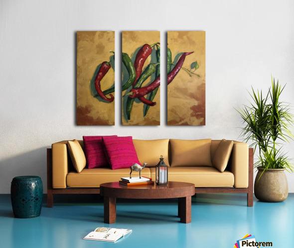 Six Peppers Split Canvas print