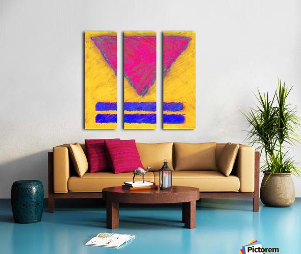 INVERTED PINK TRIANGLE Split Canvas print