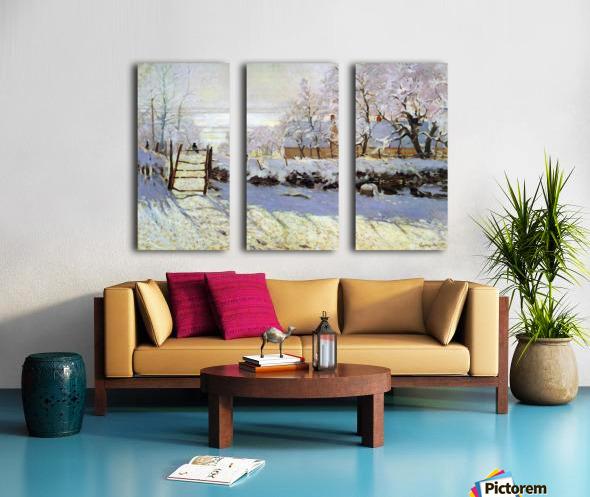 The Magpie by Monet Split Canvas print