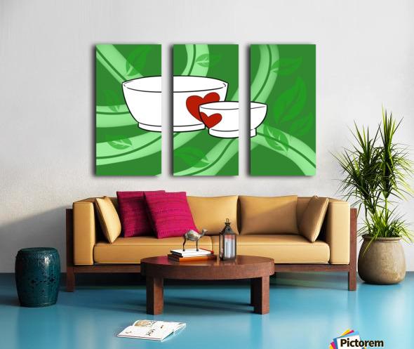 Organic Split Canvas print