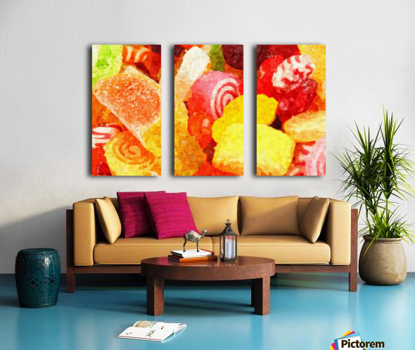 Marmalade Split Canvas print