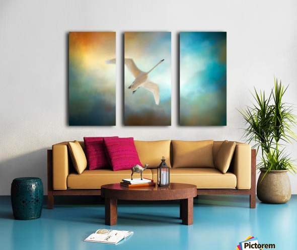 Swan Wings Split Canvas print