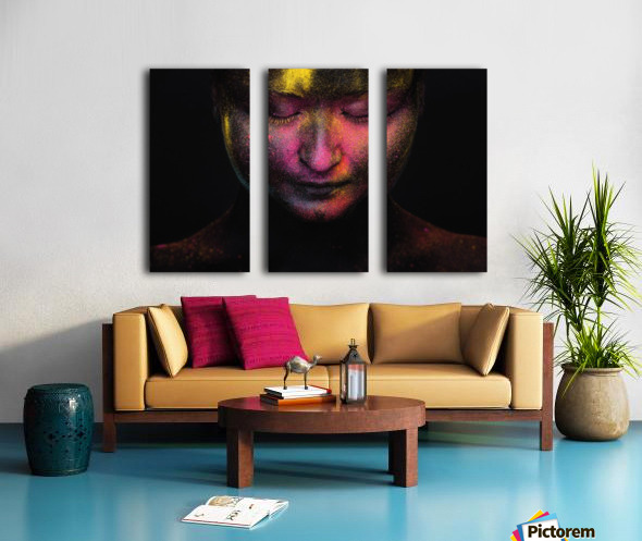 RGB feelings Split Canvas print