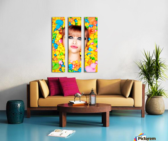 Duckfaceicon Split Canvas print