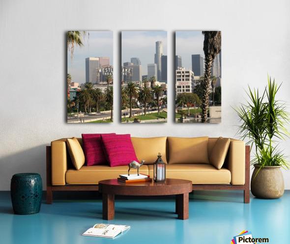 Westlake Theater to Los Angeles Split Canvas print