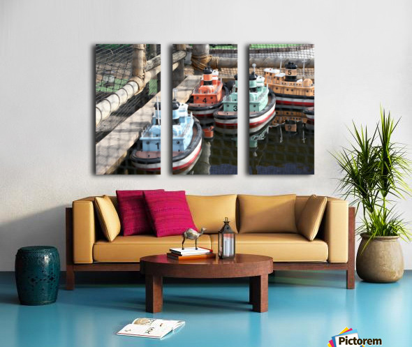 3 Toy Boats Split Canvas print