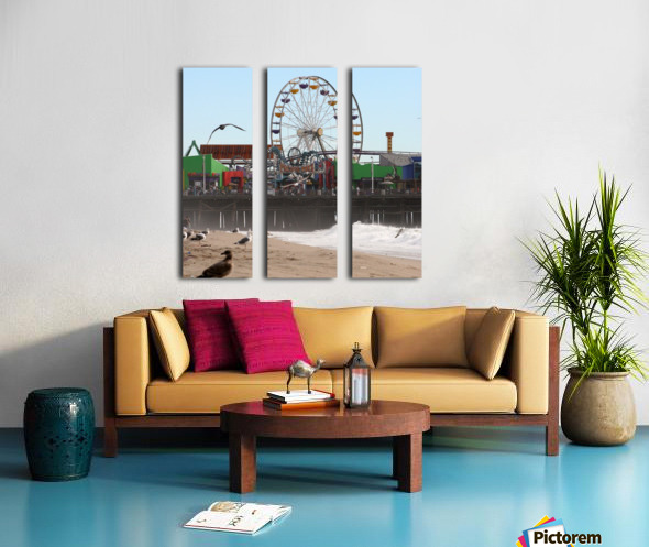 Sea Gulls & Santa Monica Pier Split Canvas print