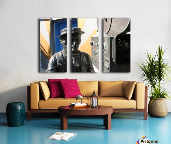 Buster Keaton Statue Split Canvas print