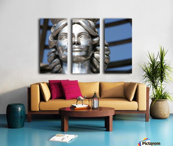 Silver Statue Face of Dorothy Dandridge Split Canvas print