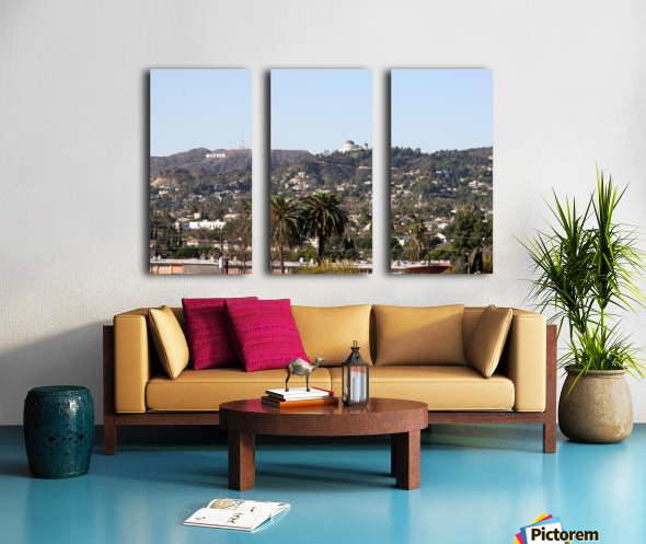 Hollywood Hills from Silver Lake Split Canvas print
