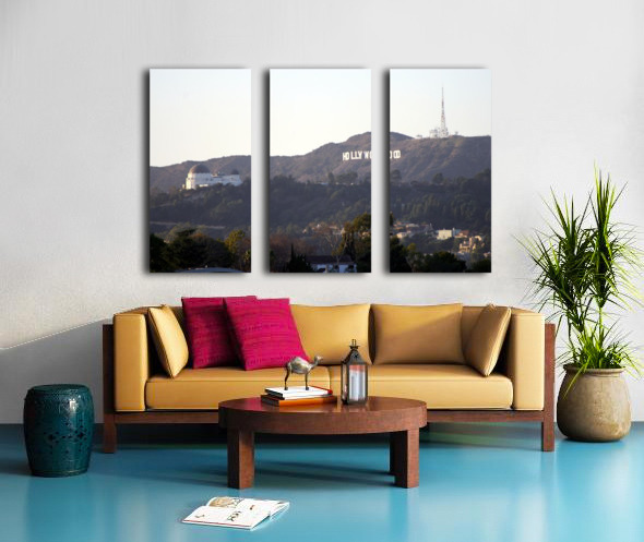 Hollywood Hills with Griffith Park Observatory Toile Multi-Panneaux