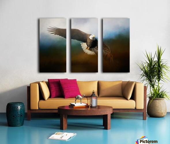 Raptor Split Canvas print
