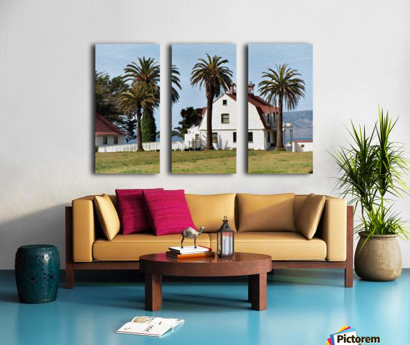House at San Francisco Presidio Park Split Canvas print