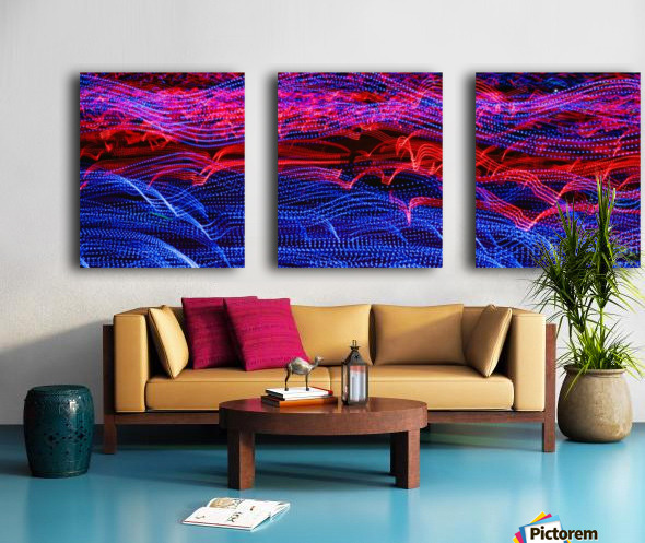 lights abstract curves long exposure Split Canvas print