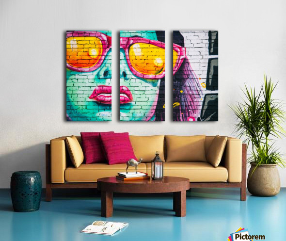 graffiti wall Split Canvas print