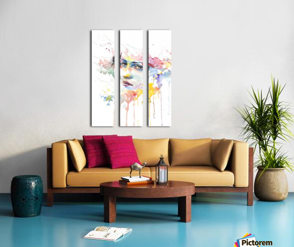 man Split Canvas print