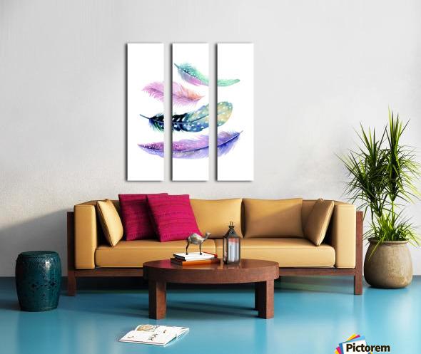 feather Split Canvas print