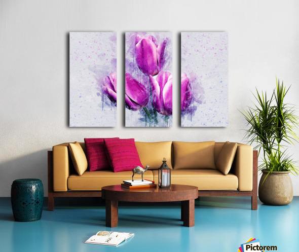 flowerz Split Canvas print