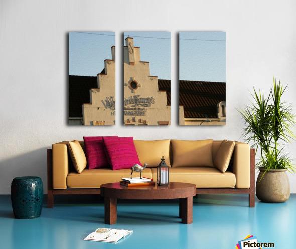 Van de Kamp's Building Split Canvas print