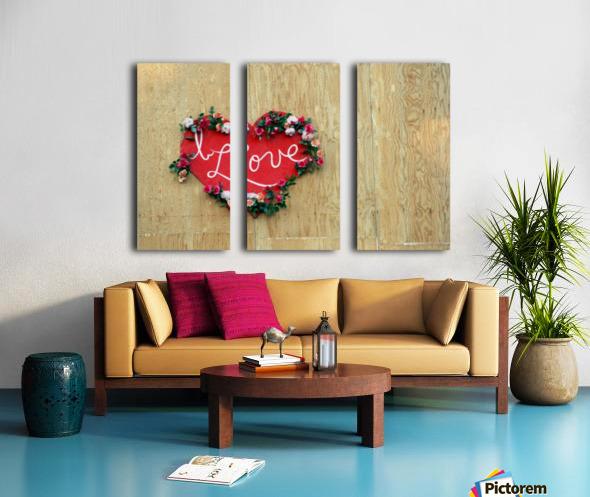 I Love Heart Split Canvas print