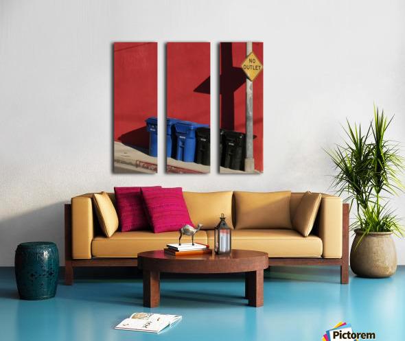 No Outlet  Split Canvas print