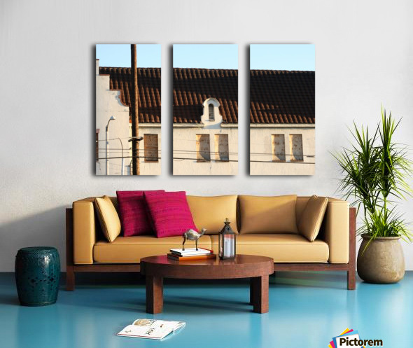 Old Building with Shadow Split Canvas print