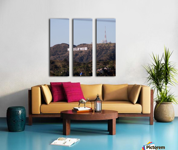 Hollywood and Helicopters Split Canvas print