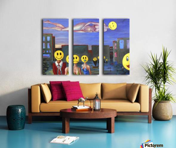 homo smilikus Split Canvas print
