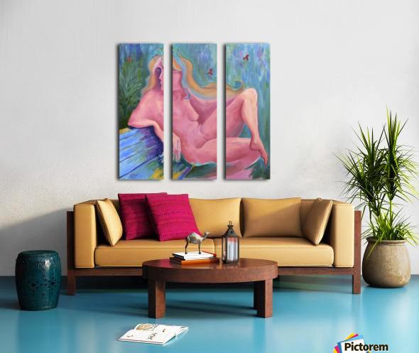 Pink semi sweet Split Canvas print