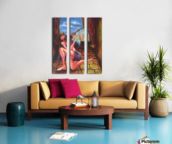 Pizzicato Split Canvas print