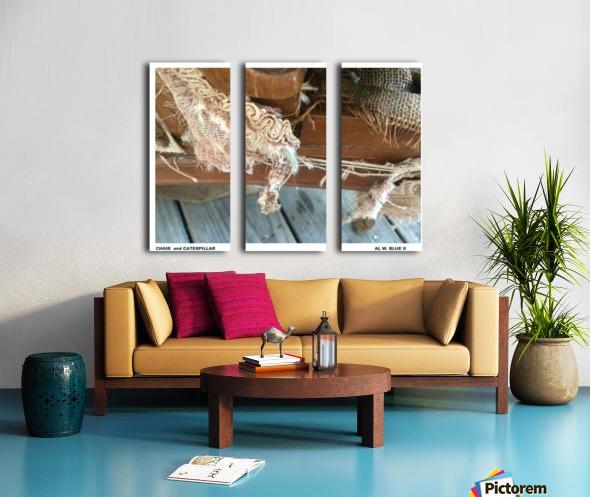 Chair & Caterpiller Split Canvas print