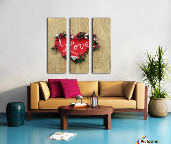 I love Heart - Square Canvas Print Split Canvas print