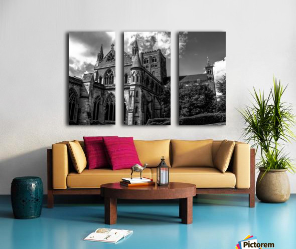 Cathedral   - Black and White image Split Canvas print