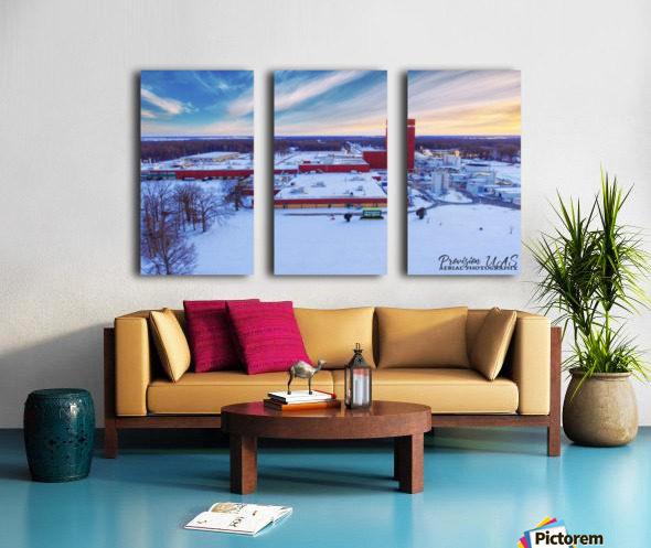 Lonoke, AR | Remington Winter Split Canvas print