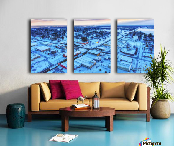 Lonoke, AR | Snowday! Split Canvas print