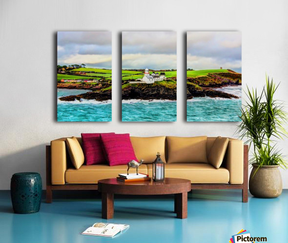 Lighthouse Cobh Ireland Paint effect Split Canvas print