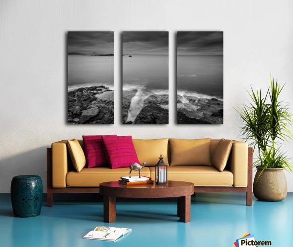 Lonely Island Split Canvas print