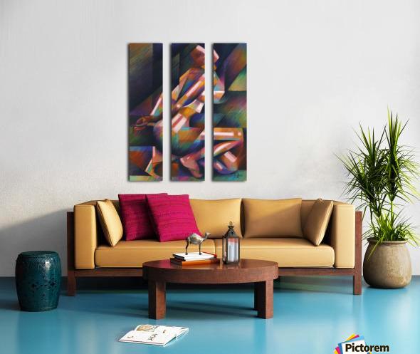 Roundism – 18-01-18 Split Canvas print