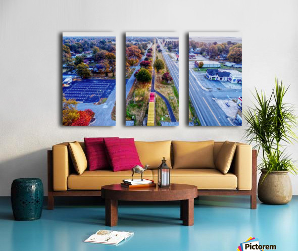 Lonoke, AR | Lonoke Railroad Split Canvas print