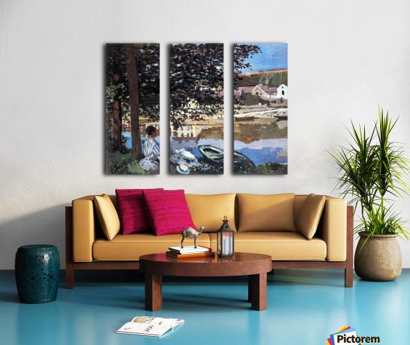 The river has burst its banks by Monet Split Canvas print