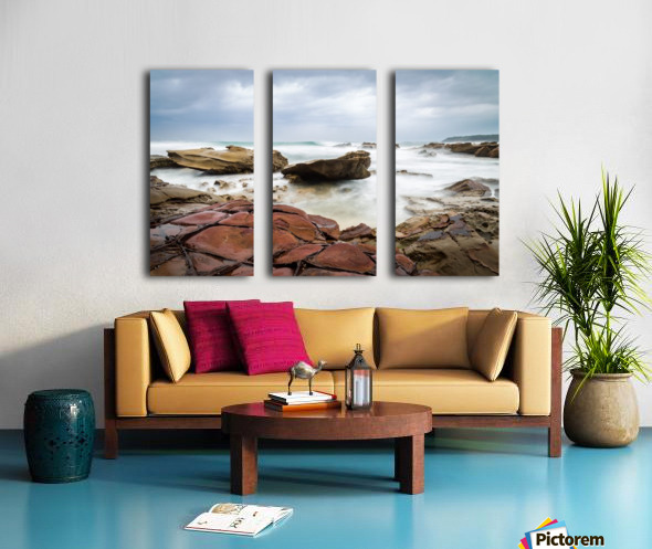 Copper Split Canvas print