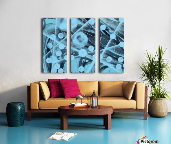 ATOMIC BLUE Split Canvas print
