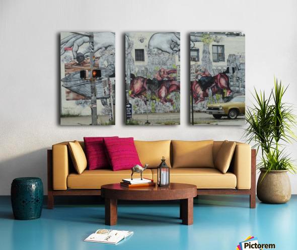 EDGEWOOD AVE. ATLANTA Split Canvas print