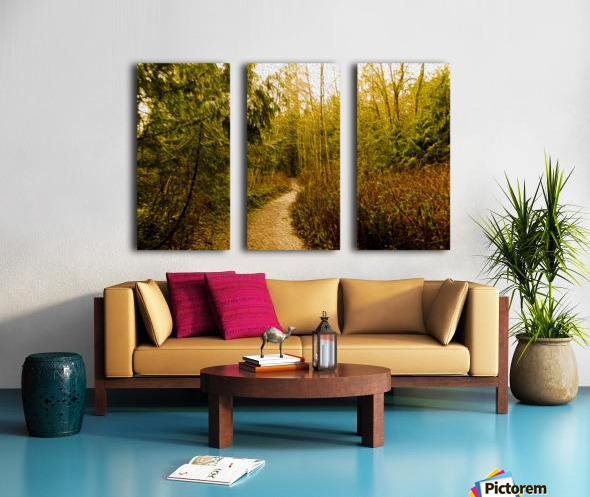 Walk Split Canvas print