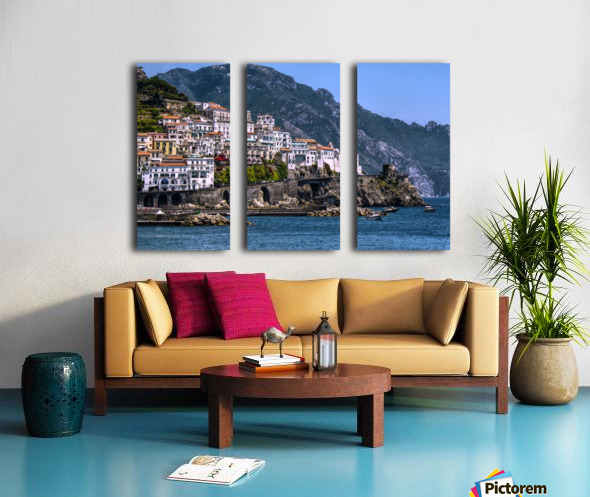 Artistic Amalfi Coast Landscape Split Canvas print