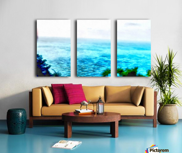 Haifa city 3 Split Canvas print