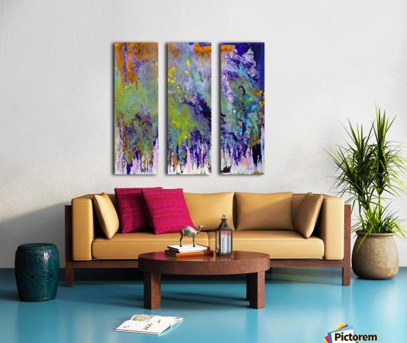 Living In a spiritual world Split Canvas print