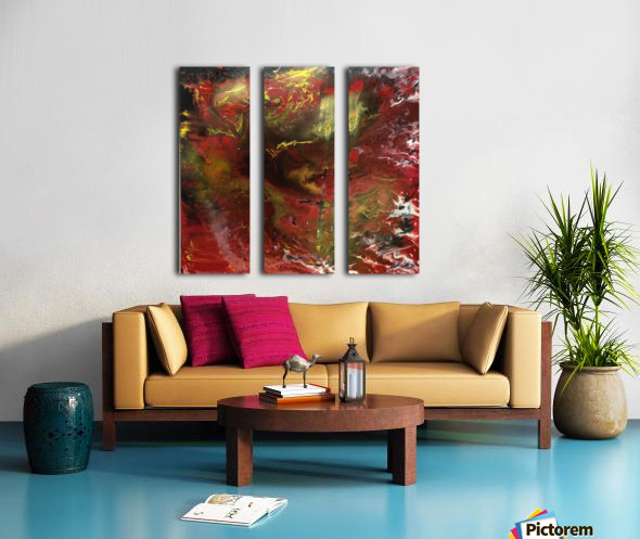 Golden Dawn Split Canvas print